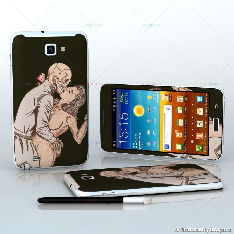 deadly love zombie skeleton is kissing a pin up girl tablets