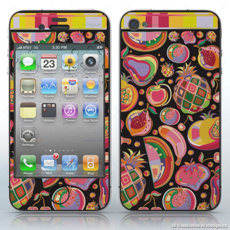 Fruit Jar , Preserves , Cell Phones / Apple iPhone 4/4S/4G decal skin wrap  sticker, Miscellaneous