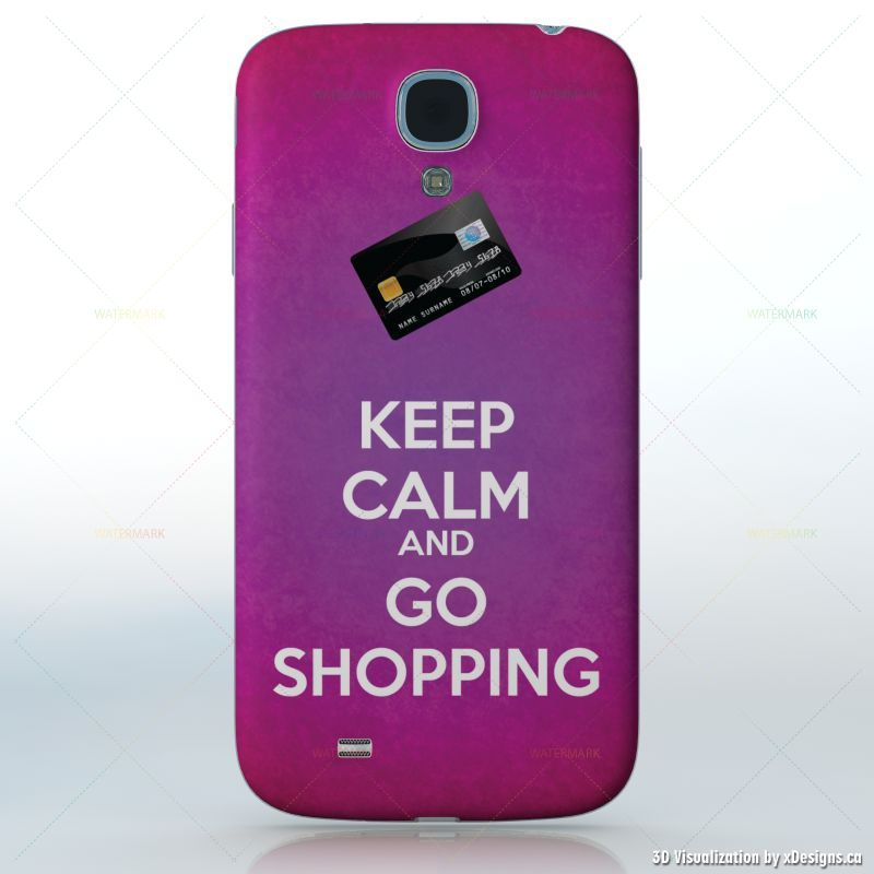 Keep calm and go shopping purple background with credit card keep calm and go shopping purple background with credit card cell phones samsung galaxy s4 decal skin wrap sticker keep calm voltagebd Gallery
