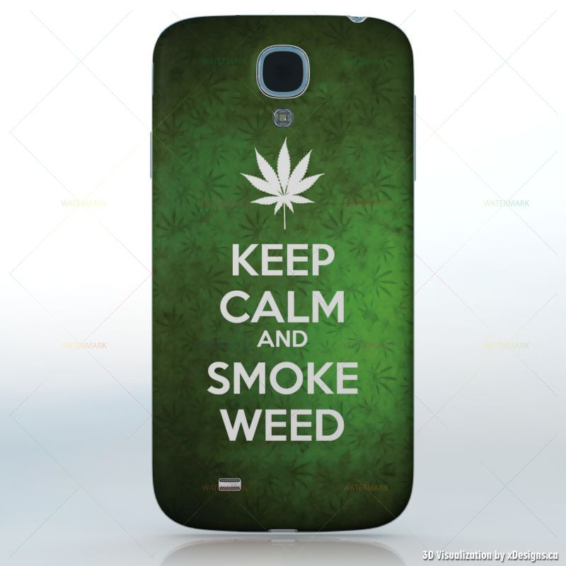 Keep calm and smoke weed green weed background with a white leaf keep calm and smoke weed green weed background with a white leaf cell phones samsung galaxy s4 decal skin wrap sticker keep calm voltagebd Gallery