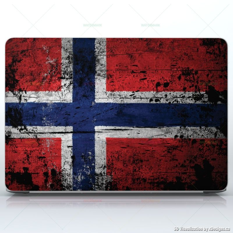 Norwegian wood flag pattern norway flag like old paint laptops apple macbook pro 15 decal skin wrap sticker flags countries