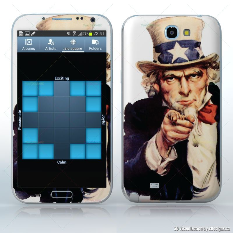 Uncle Sam American Symbol Tablets Samsung Galaxy Note 2 Decal